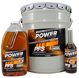 Power Plus Diesel Fuel Supplement, 5 gallon, 64 oz, and 12 oz sizes