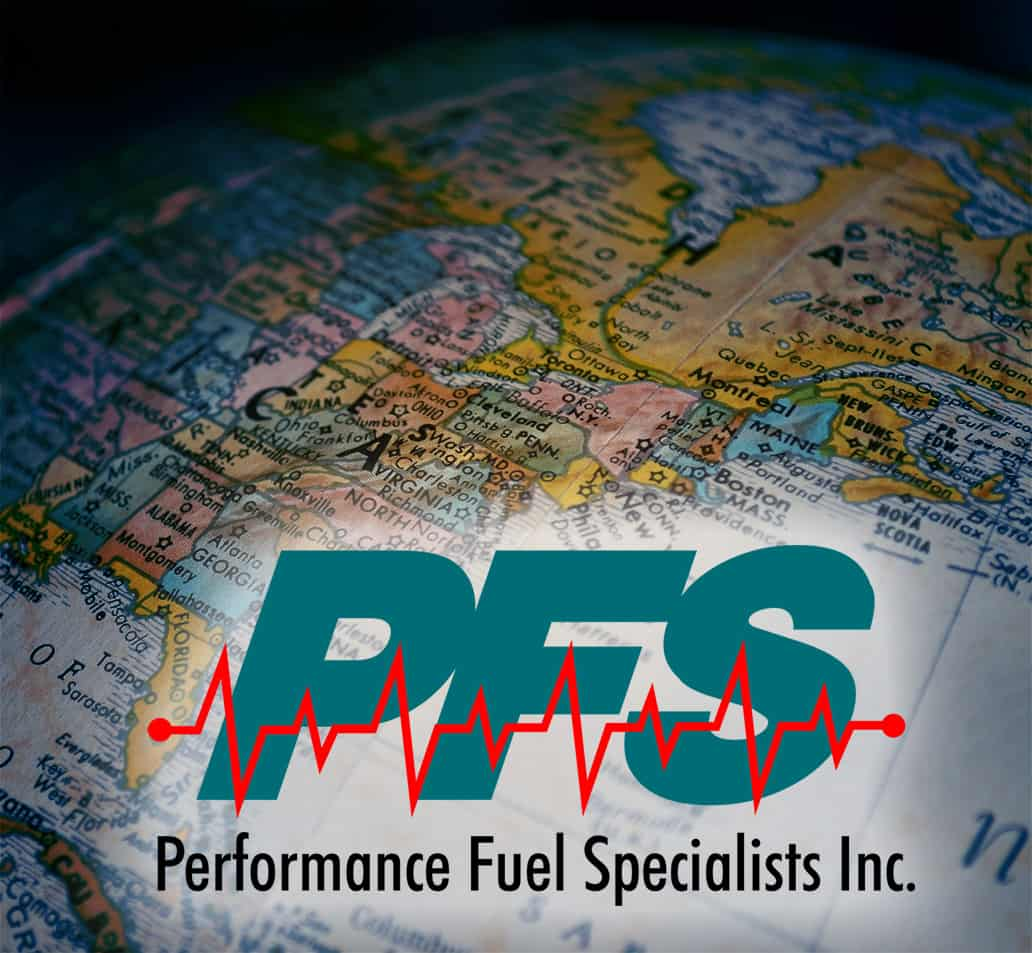 pfs logo on map