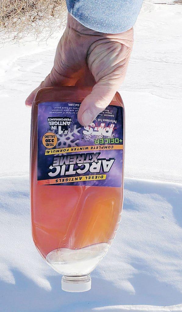 Gelled diesel antigel in winter cold
